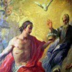 Christus zur Rechten des Vaters mit der Krone des Lebens