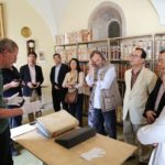 Gäste in der Handschriftenkammer